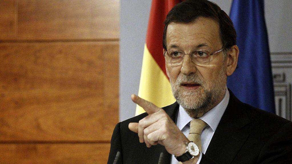Rajoy tras la reunión con los agentes sociales