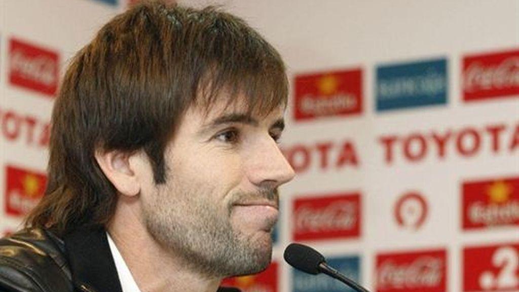 El centrocampista y capitán del Valencia, David Albelda