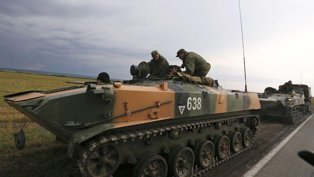 Concentración de tropas rusas en la frontera con Ucrania