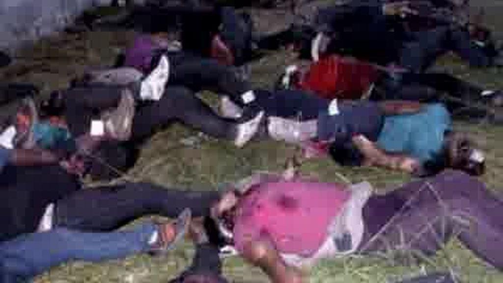 Un superviviente en la masacre de México