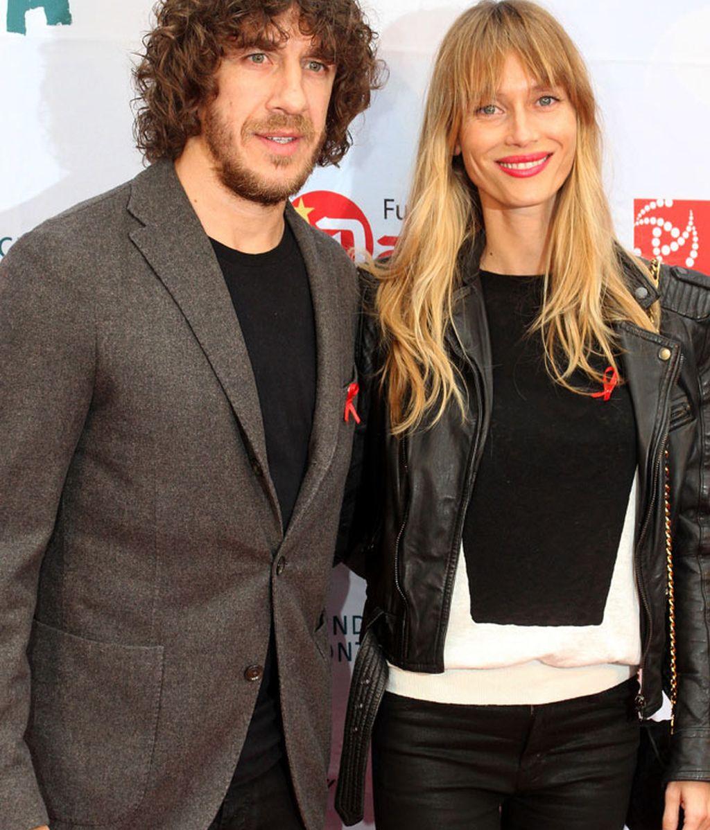 Vanesa Lorenzo y Carles Puyol, una pareja solidaria