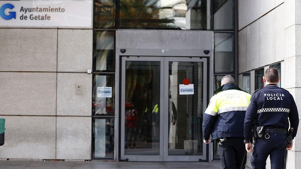 La policía registra el ayuntamiento de Getafe por un posible caso de corrupción urbanística