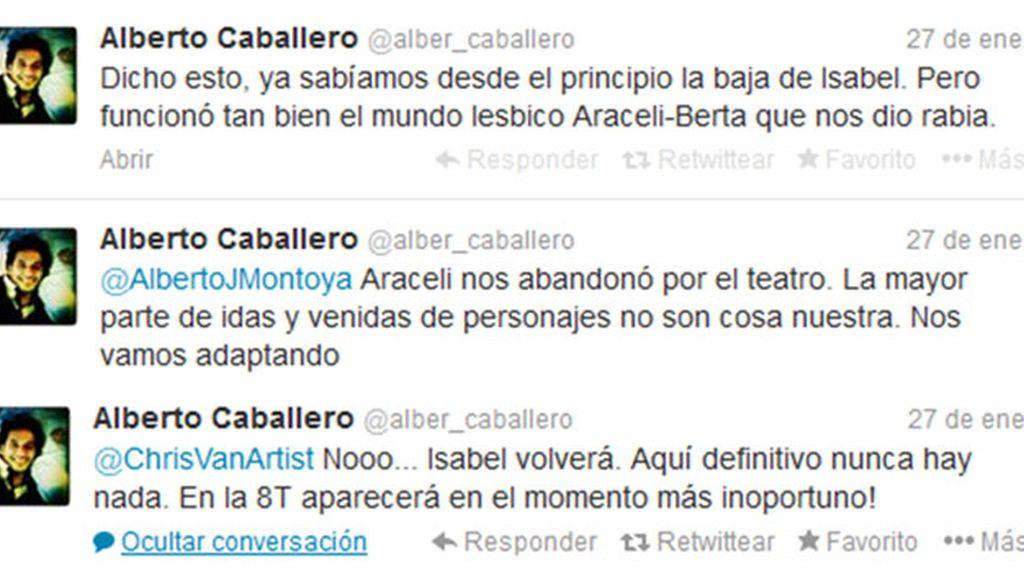 Alberto Caballero tuit