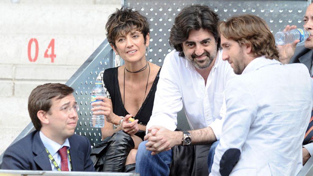 Enamorados en el tenis: Forlán y Zaira Nara comparten grada con Edurne y De Gea