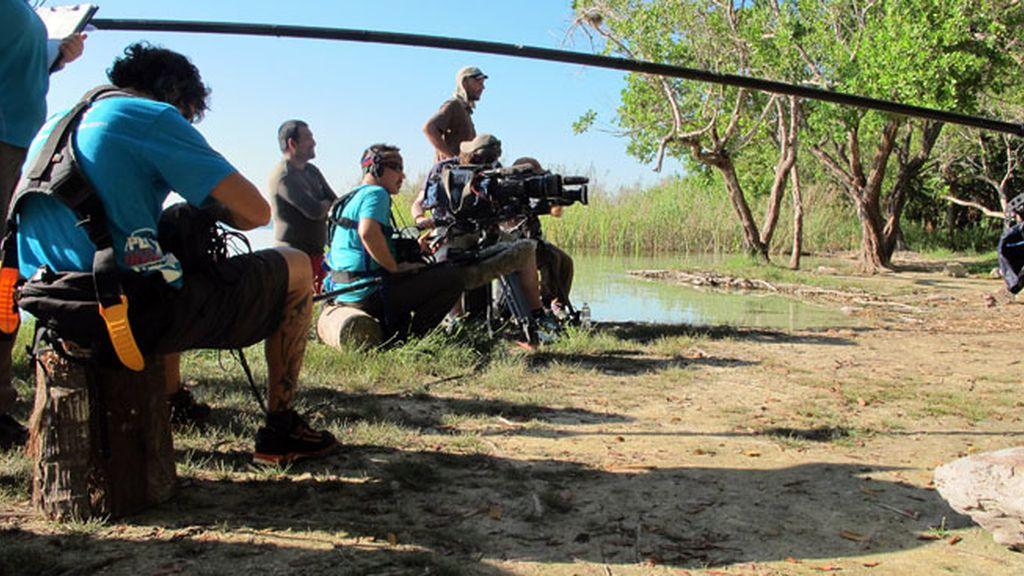 Las fotos del rodaje de 'Desafío en el abismo'