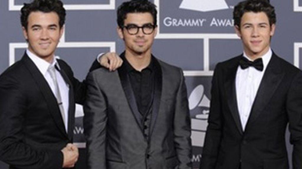 Los Jonas Brothers en los premios Grammy. Los hermanos no acudieron a la gala de los premios NME. Foto: AP/Archivo