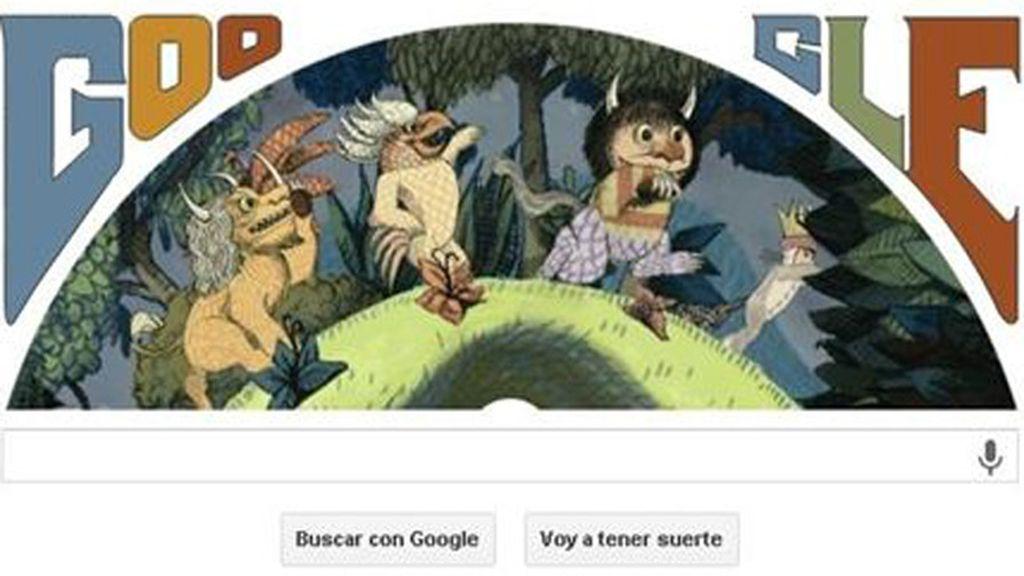 Google homenajea con un doodle al creador de 'Donde viven los monstruos'