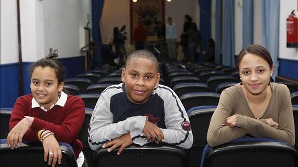 Tres niños inmigrantes del colegio madrileño de San Ildefonso. EFE/Archivo