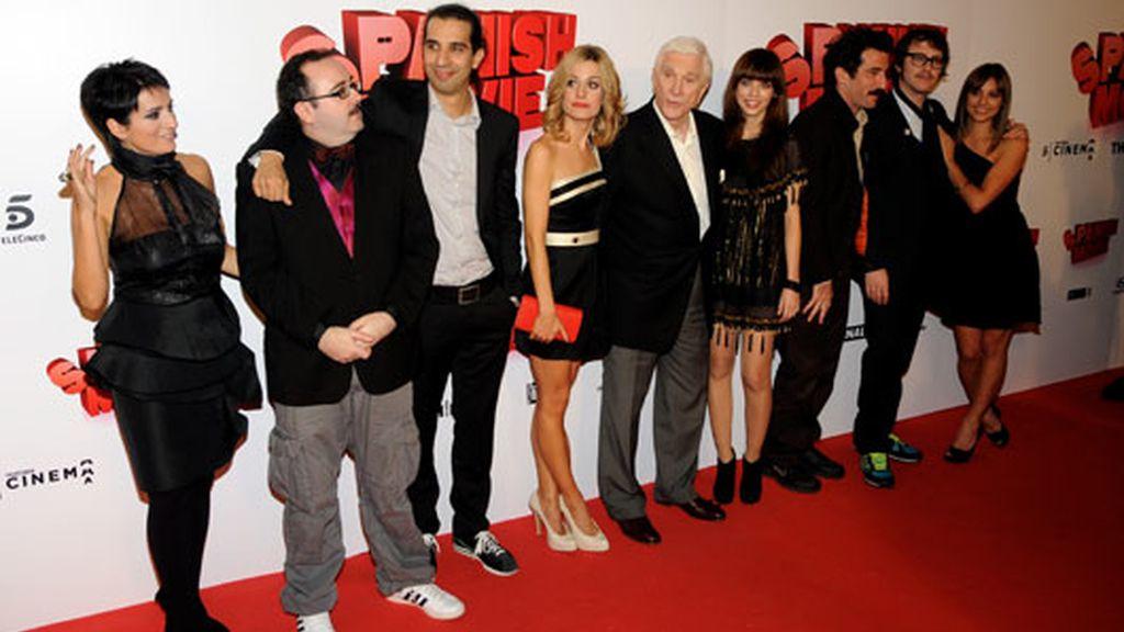 con el equipo de 'Spanish Movie' (2009)