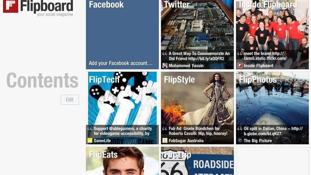 Flipboard, aplicación, agregador de RSS