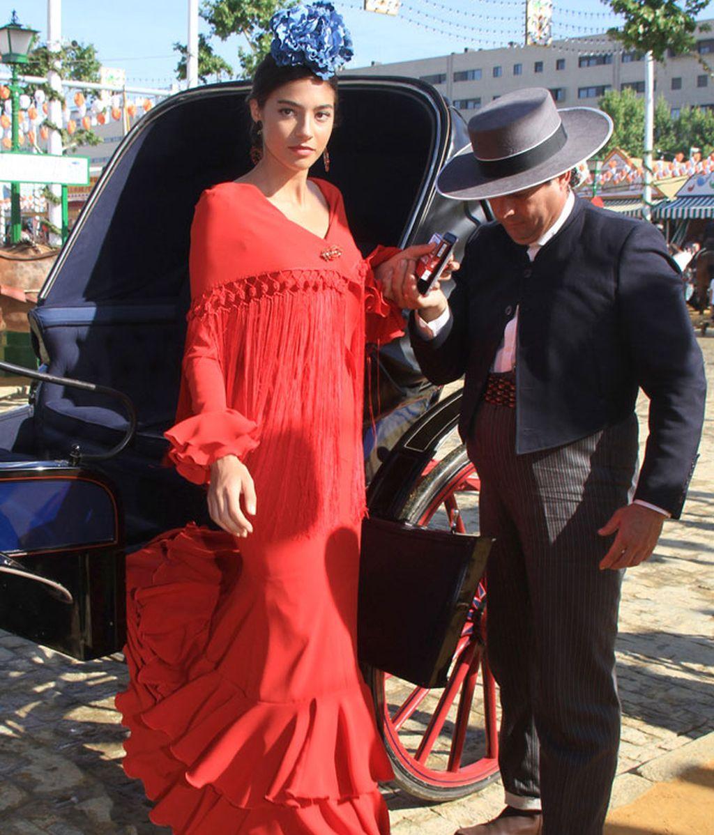 Rocío Herrera acudió a la Feria junto a su padre, Carlos Herrera