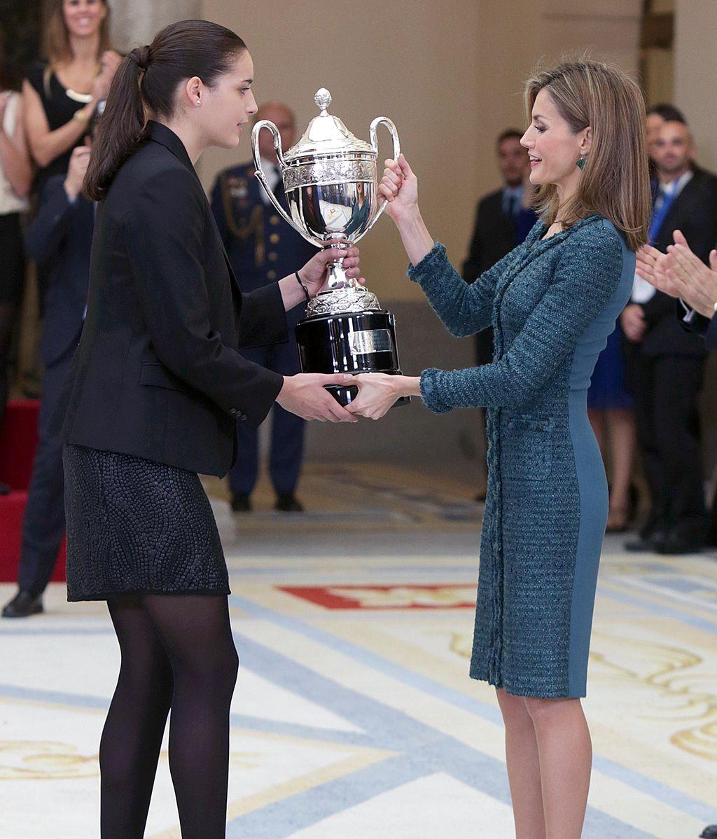 Junto a la reina Sofía y la infanta Elena