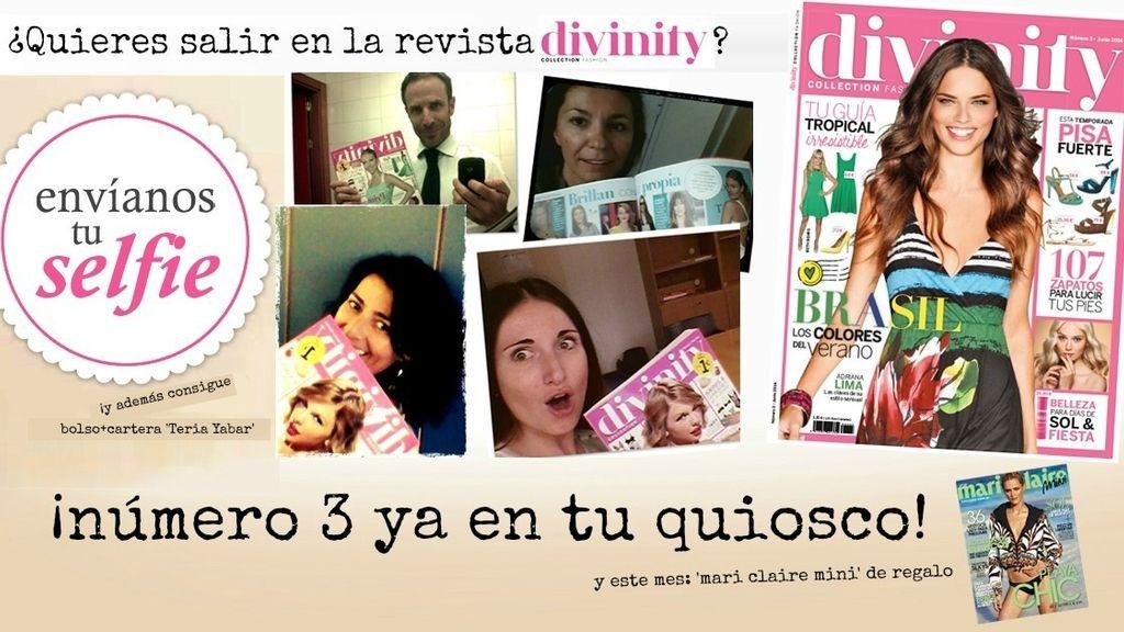 ¿Quieres salir en la Revista Divinity y conseguir un bolso+cartera de Teria Yabar? ¡Envíanos tu 'selfie'!