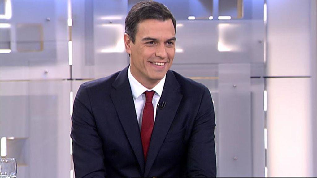 Pedro Sánchez en Informativos Telecinco