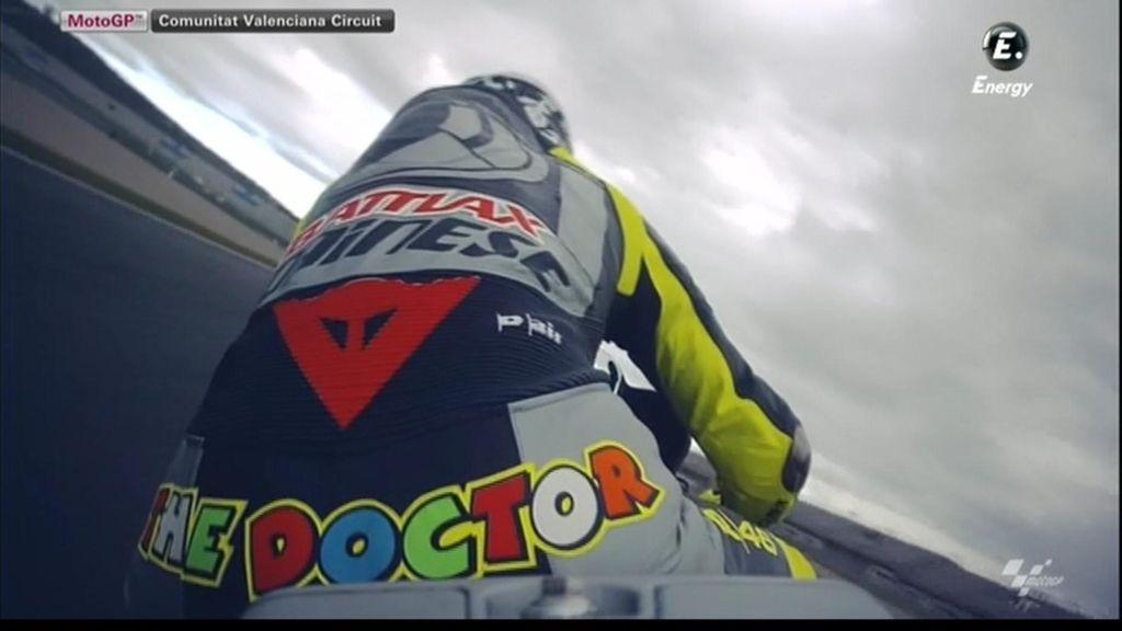 Valentino Rossi se dio su primer susto con la Yamaha en la curva 'Doohan' del Ricardo Tormo