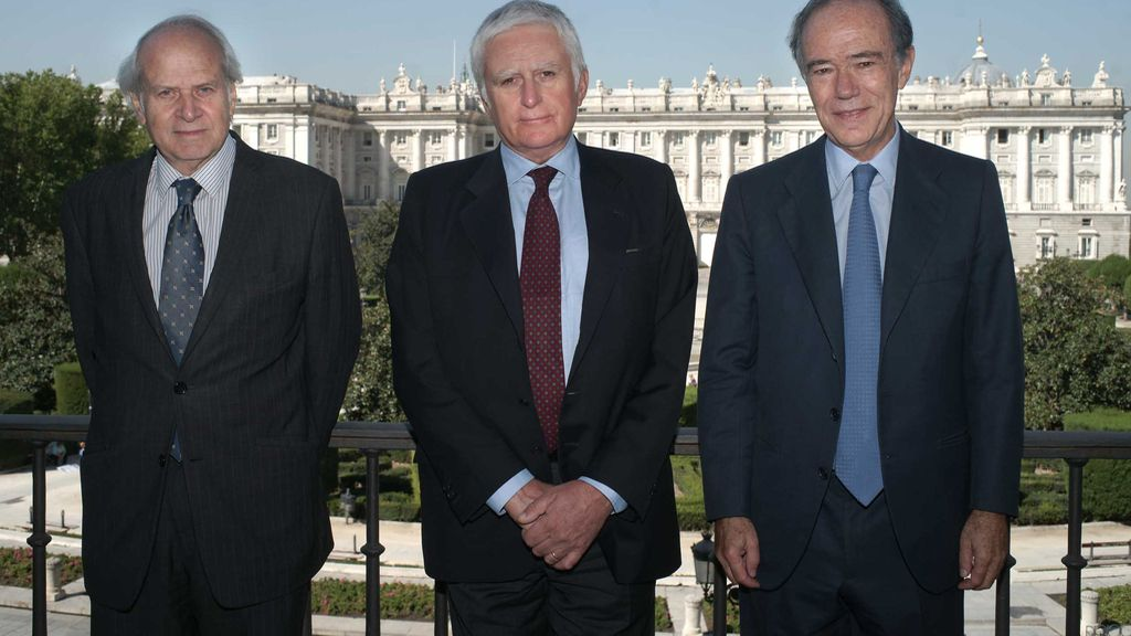 Miguel Muñiz, Paolo Vasile y Gregorio Marañón