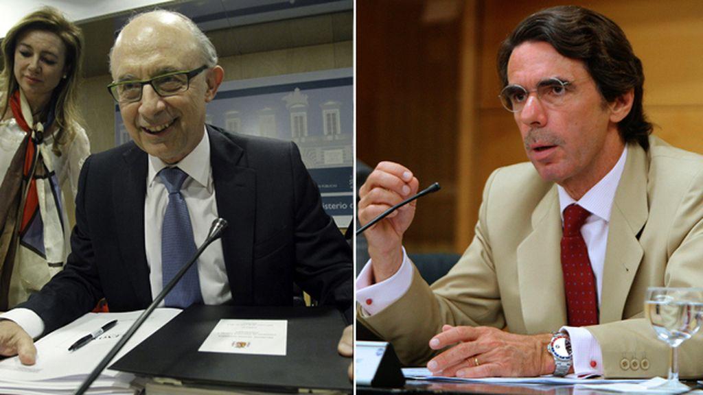 Cristóbal Montoro y José María Aznar