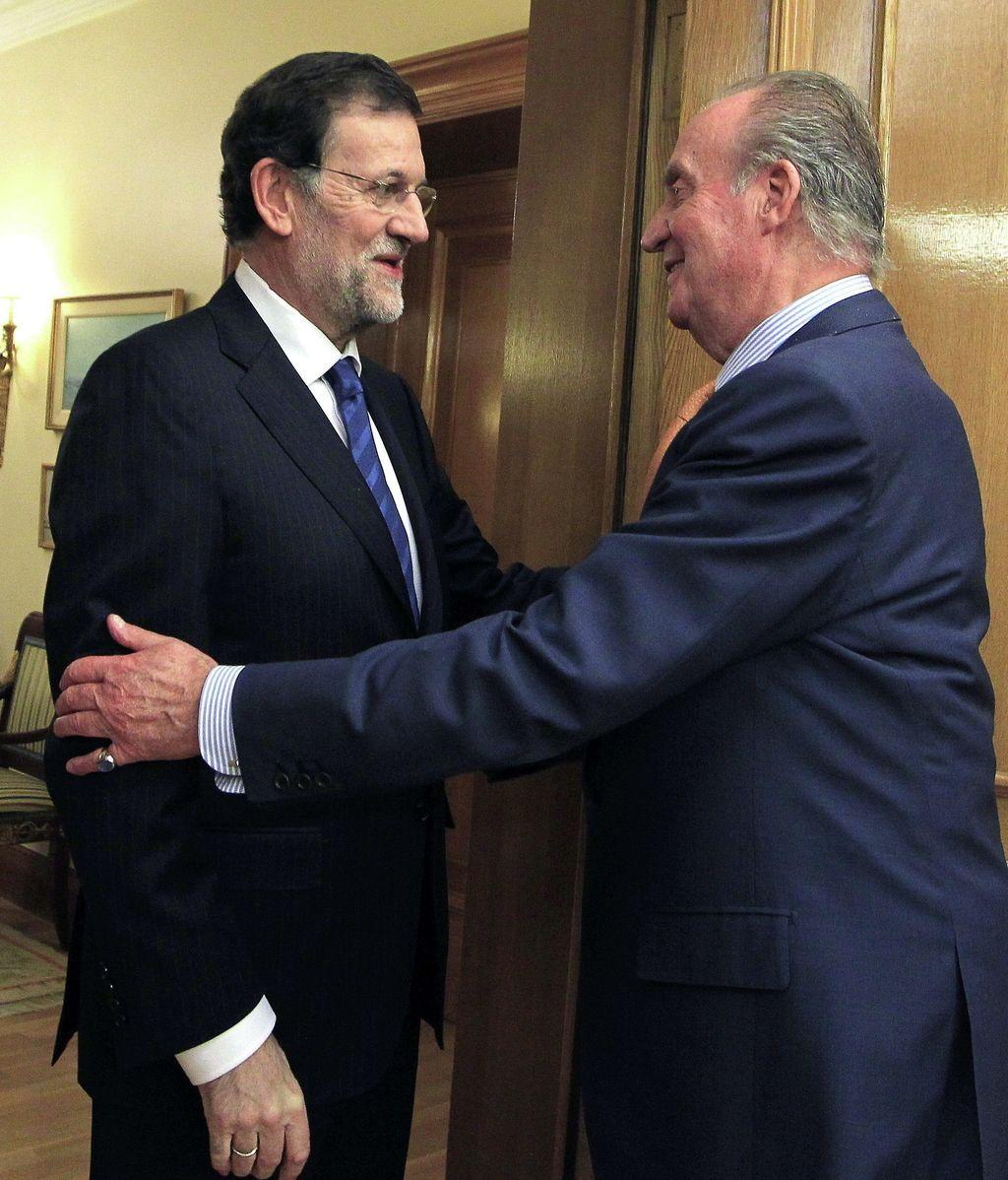 El rey recibe en audiencia a Mariano Rajoy