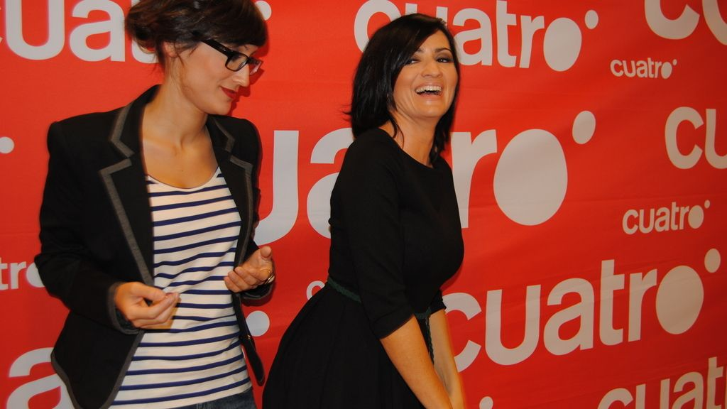 Silvia Abril y Ana Morgade en el pase de prensa