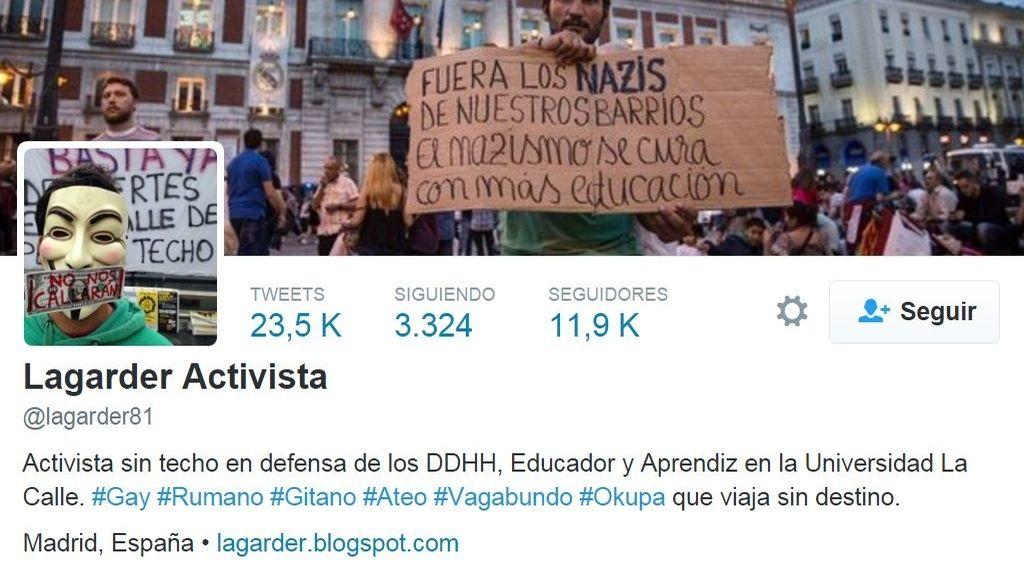 Perfil Twitter Lagarder Activista