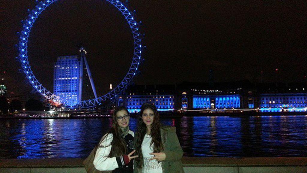 Lydia Pérez Luque en un viaje inolvidable a Londres junto a su hermana