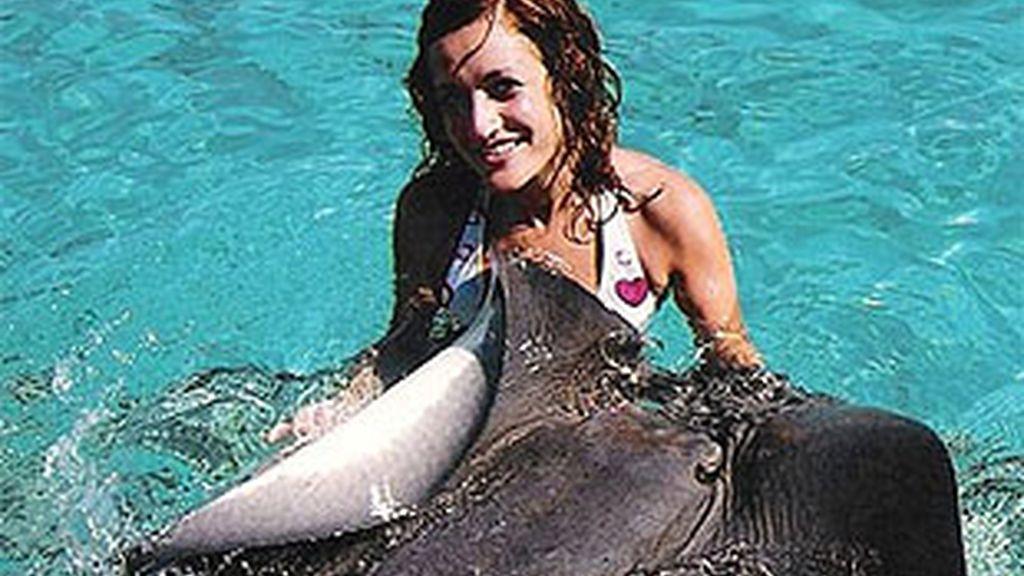 Laura y los tiburones, una de las fotos ganadoras
