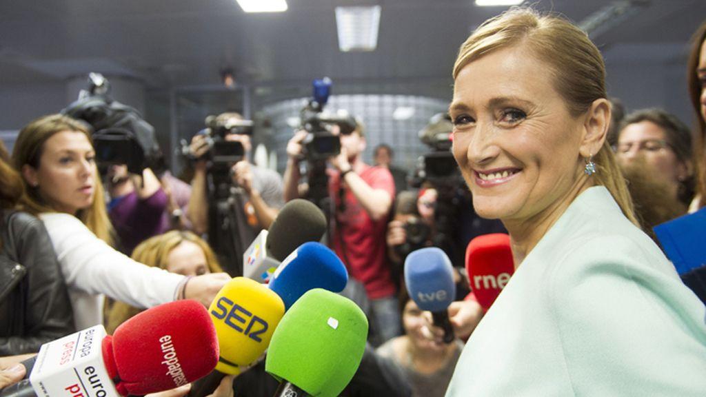 La delegada del Gobierno en Madrid, Cristina Cifuentes, reaparece en público