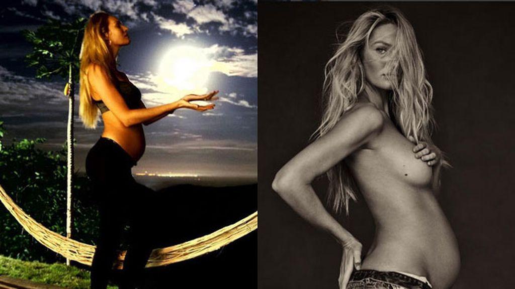 Candice Swanepoel está compartiendo el embarazo en las redes desde el primer día