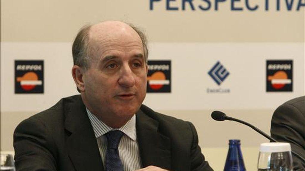 El presidente del Club Español de la Energía y de la petrolera Repsol, Antonio Brufau. EFE/Archivo