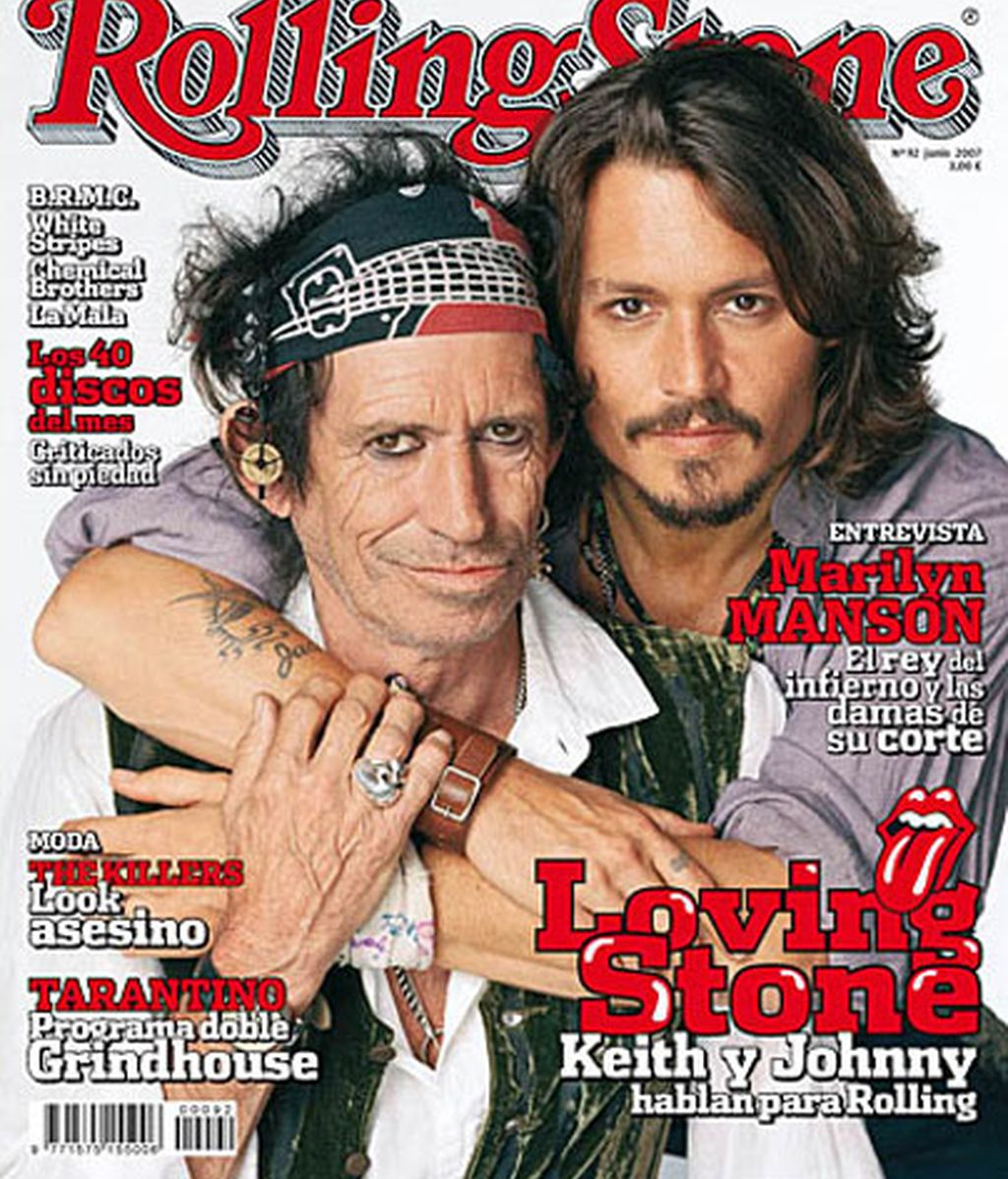 Johnny Deep y Keith Richards