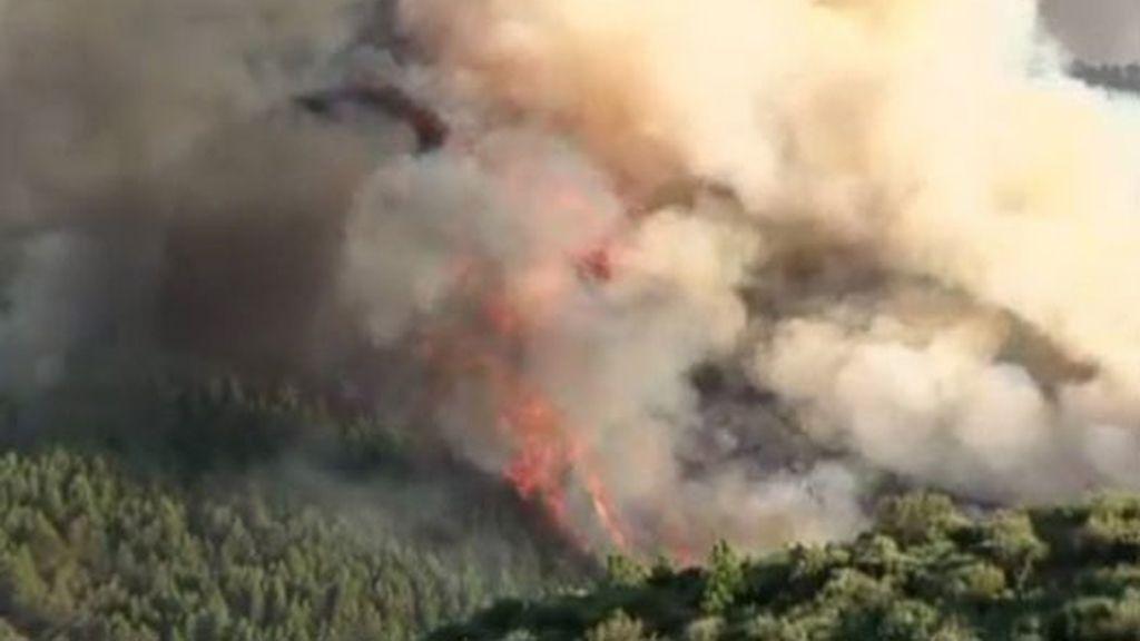 Sube a nivel 2 el incendio de Latedo (Zamora) en el que trabajan efectivos de la UME