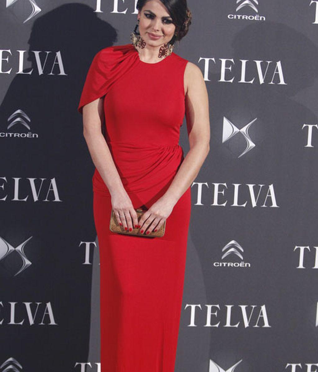 Marisa Jara, con un favorecedor vestido de Alicia Rueda