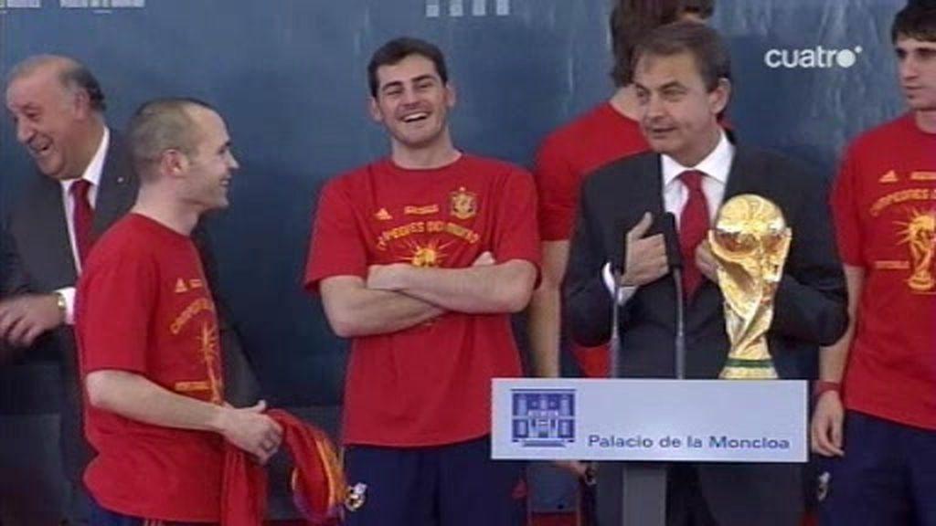 'Oa, oa, oa... Iniesta a La Moncloa'