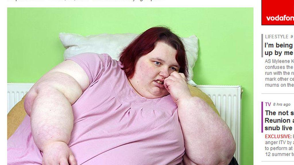 La adolescente más gorda del Reino Unido. Foto: The Sun