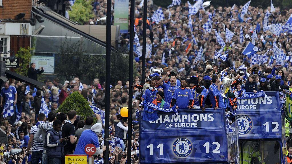 Celebraciones de Londres por la victoria del Chelsea