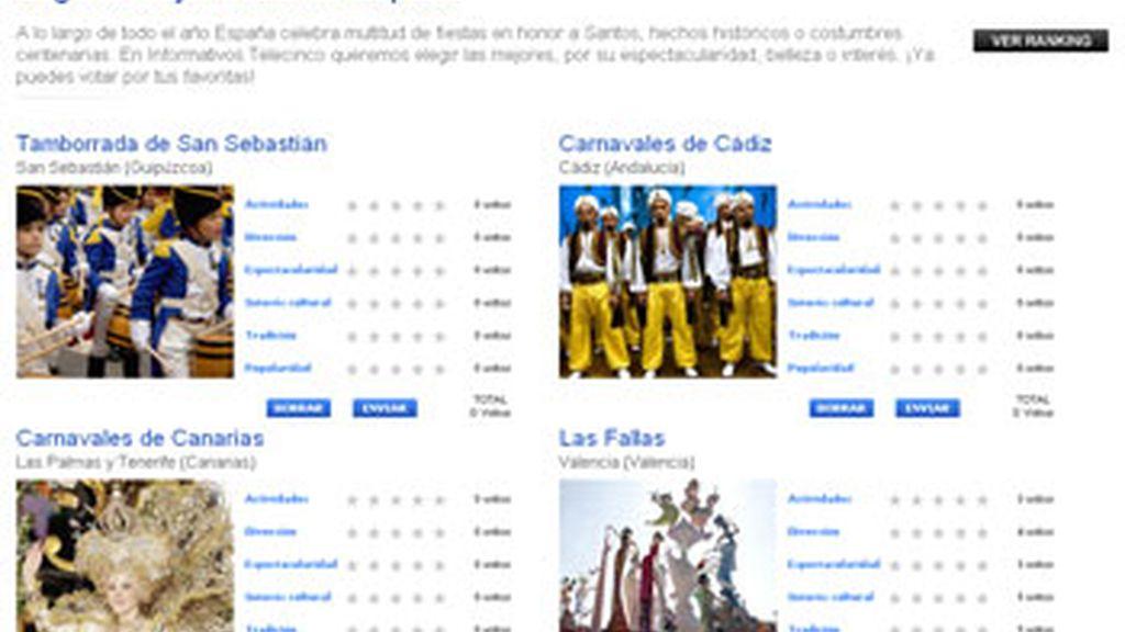 Los lectores de Informativos Telecinco pueden votar su fiesta popular preferida. Video: Informativos Telecinco