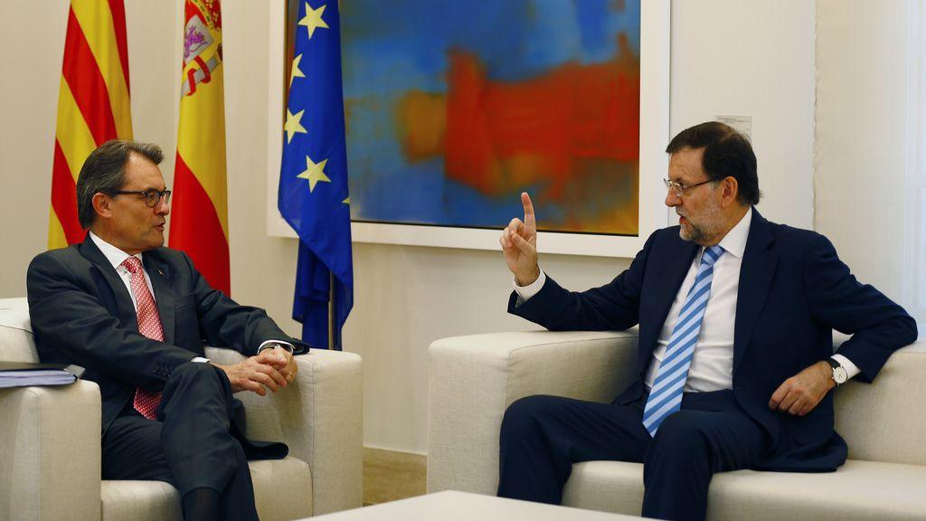 Rajoy y Mas, cara a cara