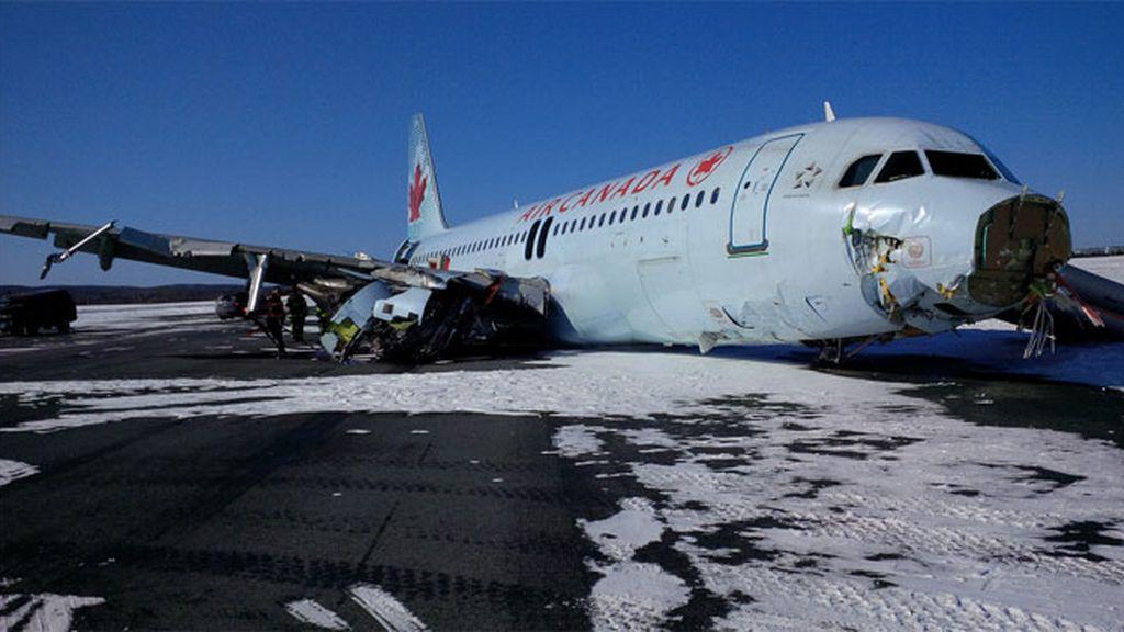 Aterrizaje forzoso Air Canada