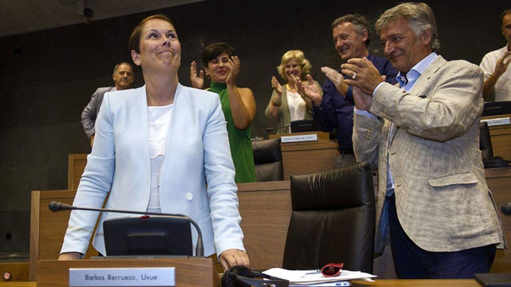 Uxue Barkos, investida presidenta de Navarra