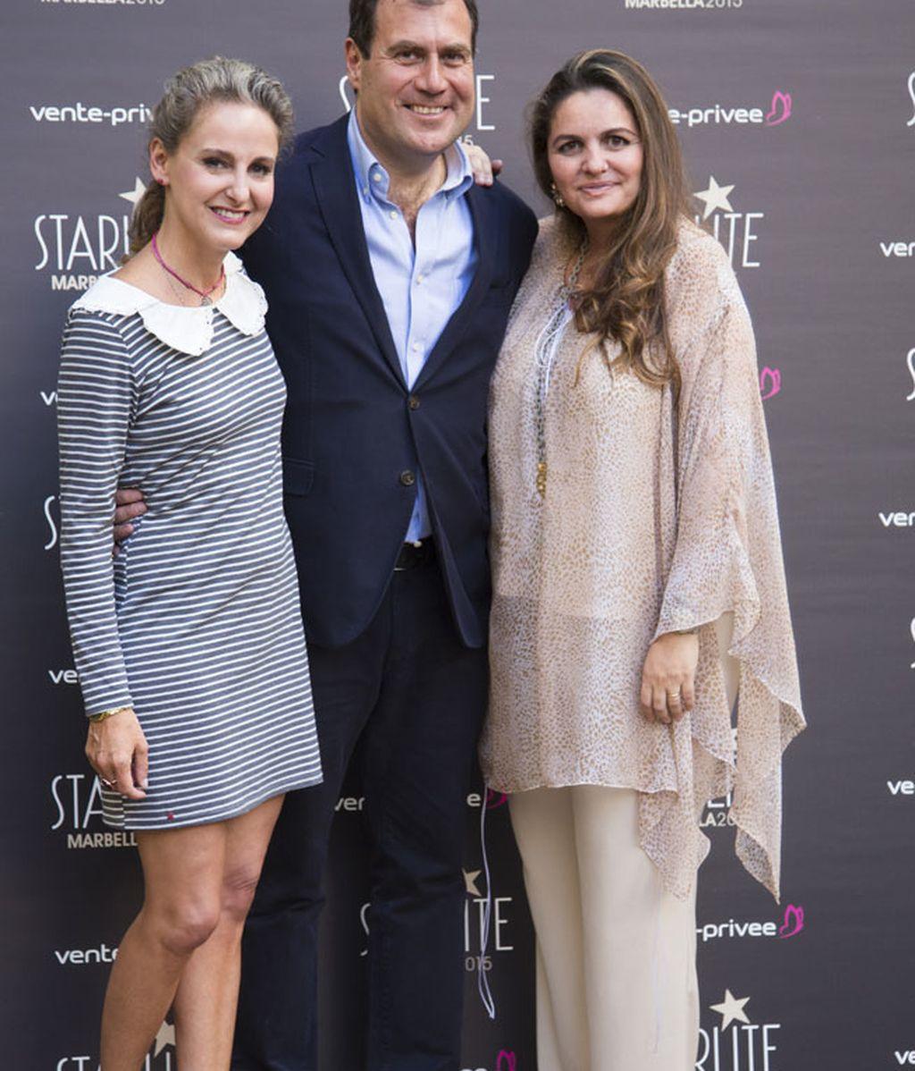 El director de 'Vente-Privee' junto a Carla Royo Villanova y G.Sanjuán