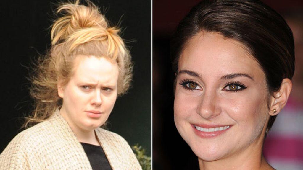 Shailene Woodley y Adele 'no poo challenge'