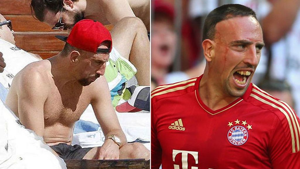 Frank Ribery, ¿con un porro? en Ibiza