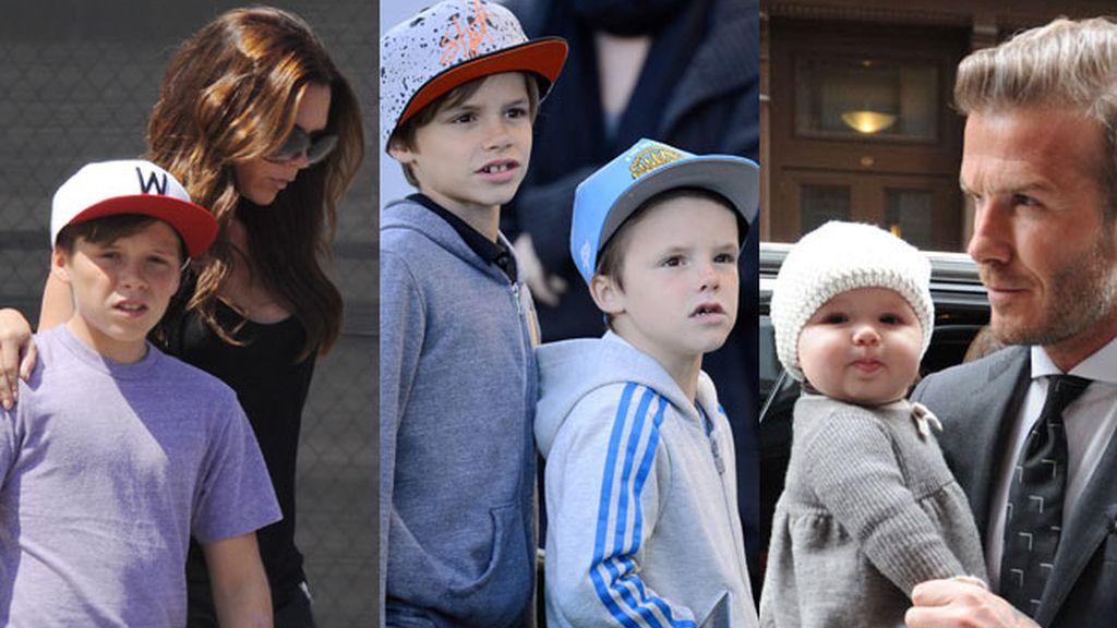 Brooklyn, Romeo, Cruz, y Harper Seven, los hijos de David y Victoria Beckham