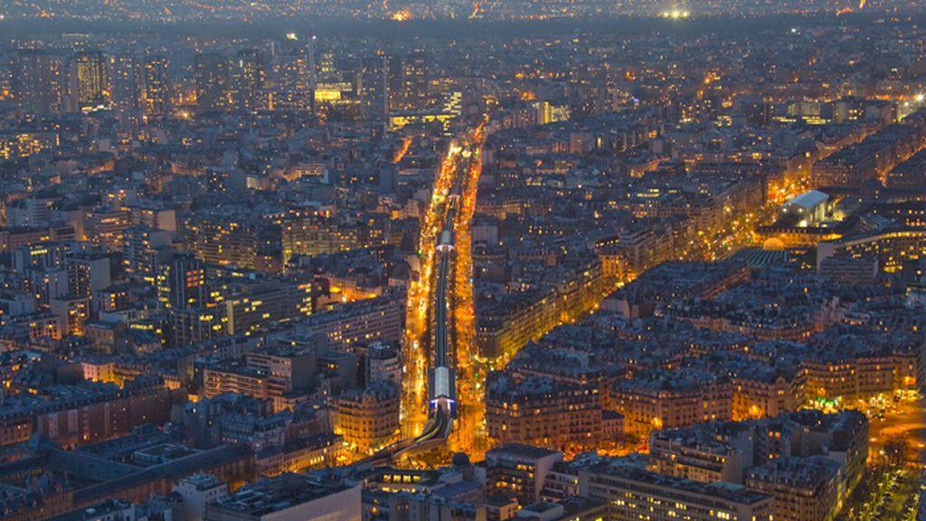 Vista aérea general de la ciudad de París