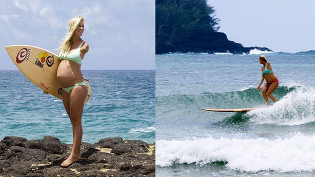 Bethany Hamilton, surfista embarazada, soul surfer, surfista manca,
