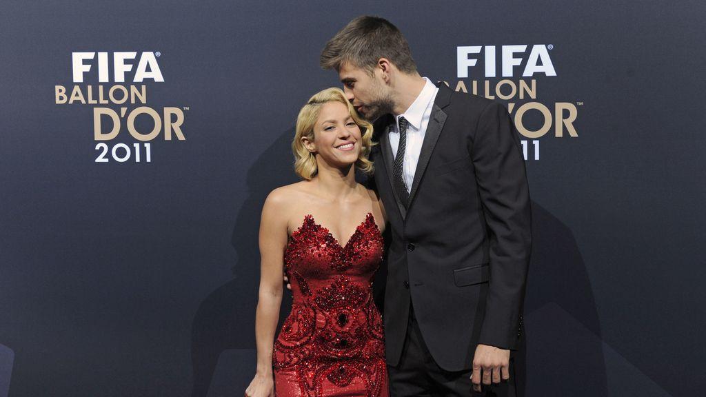 Piqué y Shakira en la gala del Balón de Oro
