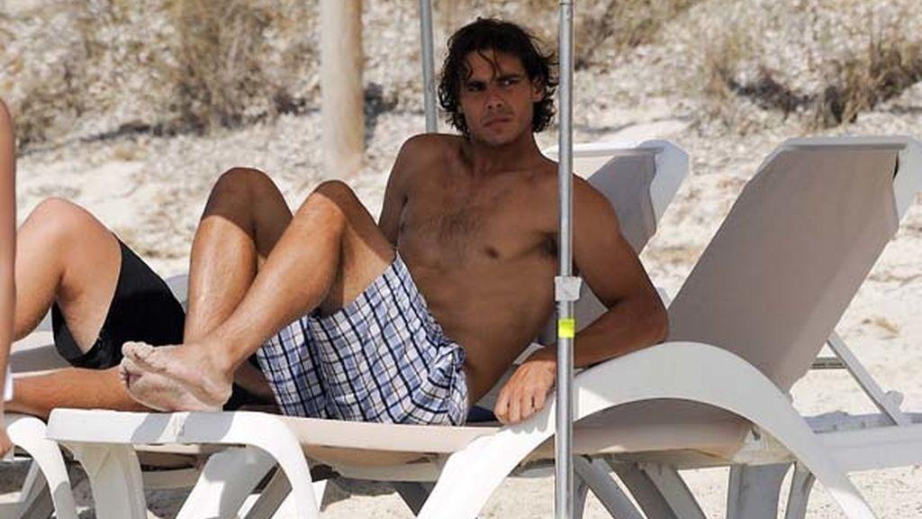 Rafa Nadal, el rey del balón de playa