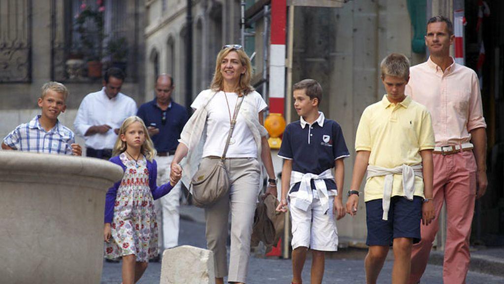 La infanta Cristina e Iñaki Urdangarin tienen cuatro hijos