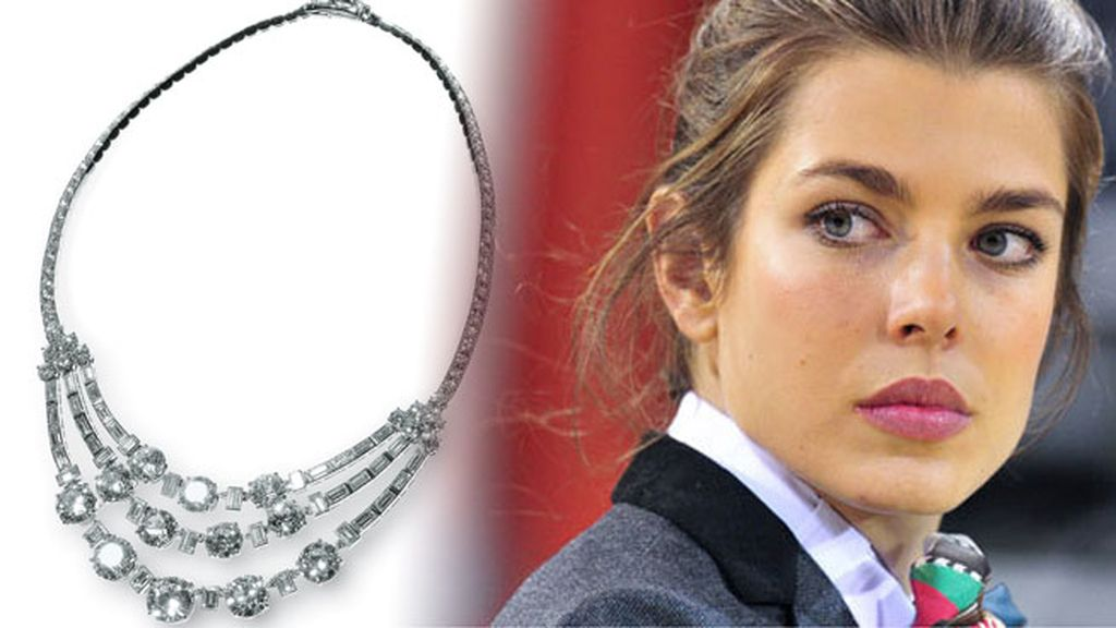 Carlota Casiraghi, en Madrid para ver el collar de Cartier de Kelly