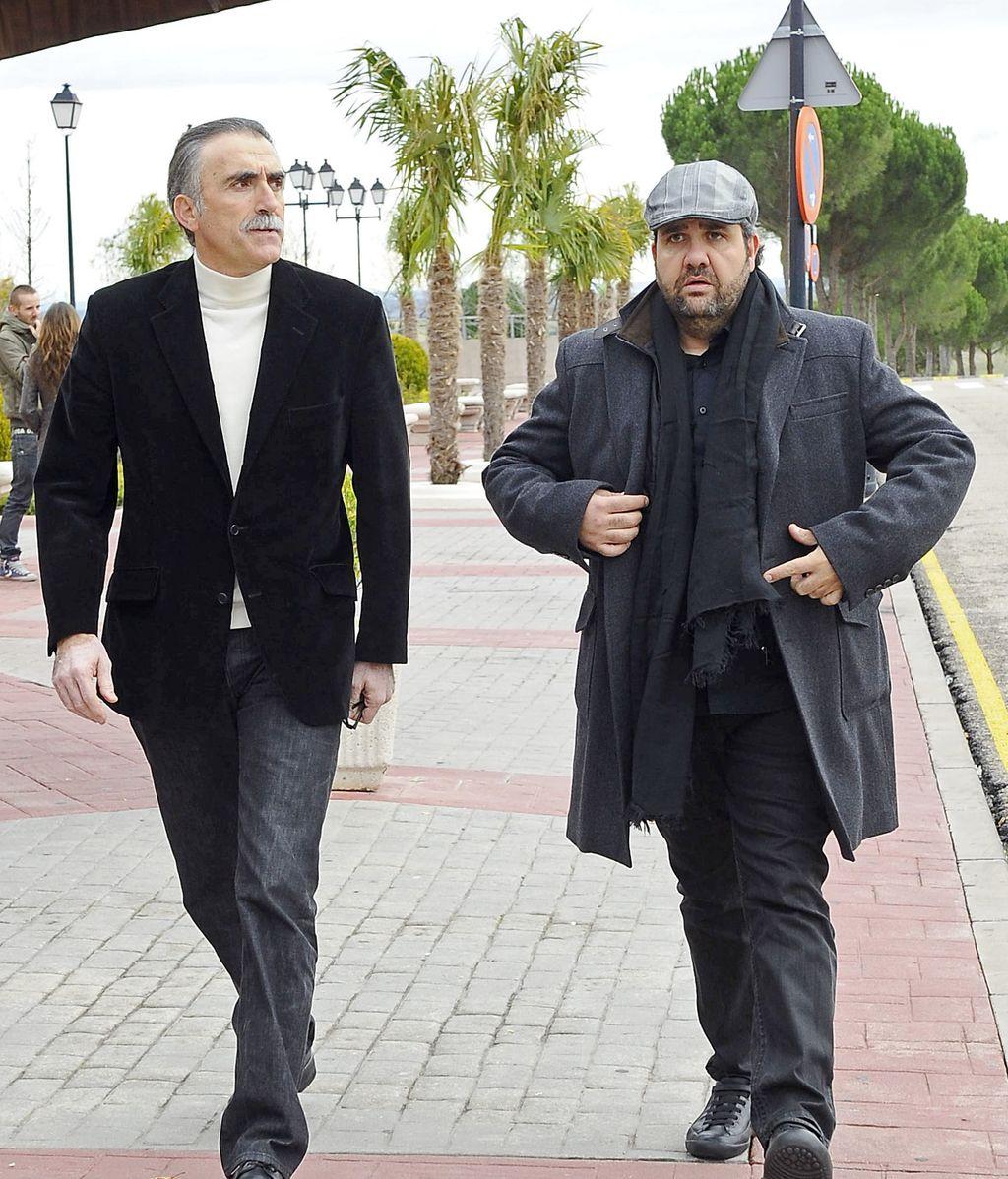 Juan y Medio y Florentino Fernández acuden a la capilla ardiente de Miliki